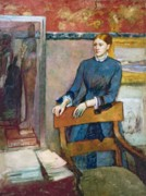 Father Pastels - Helene Rouart by Edgar Degas