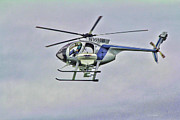 Helicopter Pilot Framed Prints - Helicopter N1610B Framed Print by Deborah Benoit