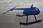 Aerials Prints - Helicopter Shadow Print by Francis Zera