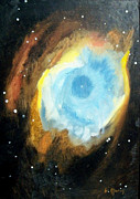 Cosmos Drawings Originals - Helix nebula by Bernard MORIN