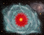 Outer Space Paintings - Helix Nebula by Georgeta  Blanaru