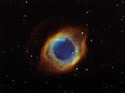 Aquarius Prints - Helix Nebula In Aquarius Ngc 7293 Print by Filipe Alves