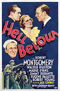 1933 Movies Prints - Hell Below, Robert Montgomery, Madge Print by Everett