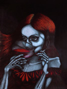 Vampire Drawings - Hella at the Devils Ball by Maryska Torresowa