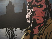 Hellboy  Print by Jackie Davenport