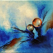 Drops Paintings - Helleau 6 by Francoise Dugourd-Caput
