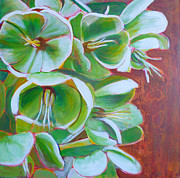 But Painting Originals - Hellebore by Sandrine Pelissier