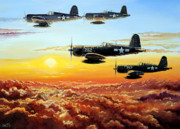 Military Drawings Metal Prints - Hellions Metal Print by Charles Taylor