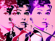 Vintage Digital Art Prints - Hello Audry Print by Christian Colman