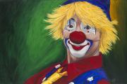Clown Paintings - Hello Clown by Patty Vicknair