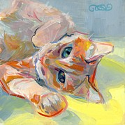 Tabby Paintings - Hello Kitty by Kimberly Santini