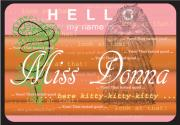 Essene Posters - Hello My Name Is Miss Donna Poster by Donna Zoll