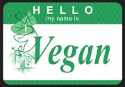 Tag Digital Art - Hello My Name Is Vegan by Donna Zoll