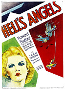 Harlow Framed Prints - Hells Angels, Jean Harlow On Window Framed Print by Everett