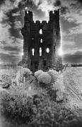 Horror Castle Prints - Helmsley Castle Print by Simon Marsden