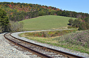Maryland Photos - Helmstetters Curve on the Western Maryland Scenic Railroad by Brendan Reals