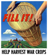 Farming Posters - Help Harvest War Crops Poster by War Is Hell Store