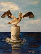 Gulf Of Mexico Painting Originals - HELP our GULF by Dyanne Parker