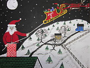 Slay Paintings - Help Santas Stuck by Jeffrey Koss