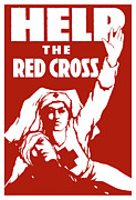 Nursing Framed Prints - Help The Red Cross Framed Print by War Is Hell Store