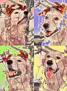 Dog Pop Art Digital Art - Helping Out by Lou  Novick
