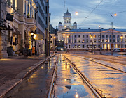 Helsinki Finland Prints - Helsinki After  Rain Print by Any Photo 4U