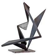 Steel Sculptures - Helter Skelter  by John Neumann
