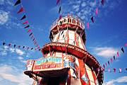 Color Slide Posters - Helter Skelter With Bunting Poster by Nick Kee Son
