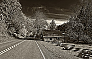 Split Rail Fence Photo Prints - Helvetia WV monochrome Print by Steve Harrington
