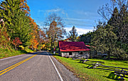 Split Rail Fence Photo Prints - Helvetia WV Print by Steve Harrington