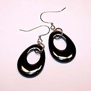 Hematite Jewelry - Hematite Oval Earrings by Kelly DuPrat