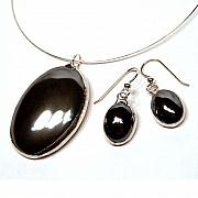 Collection Jewelry - Hematite Set from the Divinity Collection by Kelly DuPrat