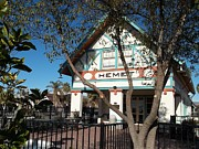 Santa Fe Framed Prints - Hemet Museum-Old Santa Fe Depot Framed Print by Glenn McCarthy Art and Photography