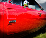 Car Details Framed Prints - Hemi Charger Framed Print by Thomas Schoeller