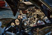 Hemi Framed Prints - Hemi Engine Framed Print by Edward Sobuta