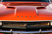 Orange Digital Art Originals - Hemi Orange 1971 Dodge Challenger by Gordon Dean II
