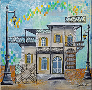 Key West Paintings - Hemingway Houses by Natalie L