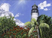 Florida House Painting Posters - Hemmingways View Poster by Lisa Reinhardt