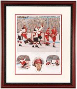 Signed Mixed Media - Henderson Scores for Canada Limited Edition by Daniel Parry