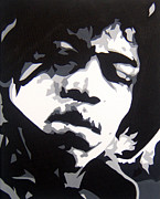 Jimi Hendrix Painting Originals - Hendrix 810 by Michael James  Toomy