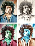 Jimi Hendrix Digital Art Originals - Hendrix Illusion by Brian Degnon
