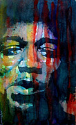 Jimi Hendrix Posters - Hendrix Poster by Paul Lovering