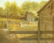 Barn Yard Prints - Henhouse Print by Charles Roy Smith