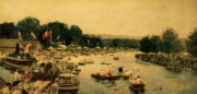 River Banks Paintings - Henley Regatta by James Jacques Joseph Tissot