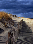 Clouds Photographs Posters - Henlopen Dunes Poster by Skip Willits
