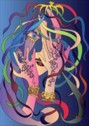 Illustrator Metal Prints - Henna Metal Print by Efren Teves