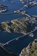 Lofoten Islands Photos - Henningsvaer Bridges by Heiko Koehrer-Wagner