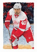 Henrik Paintings - Henrik Zetterberg by Glen Green