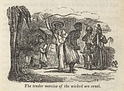 Enslaved Framed Prints - Henry Bibbs Wife Whipped By The Black Framed Print by Everett
