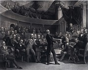 Henry Clay 1777-1852 Addressing Print by Everett